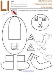 Ll Lion Craft Worksheet