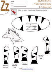 Zz Zebra Craft Worksheet