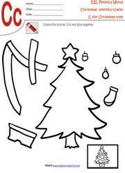 christmas tree christmas craft worksheet