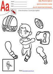 Sports Craft Worksheets, Sports Kindergarten Crafts