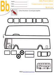 Transportation Craft Worksheets | Transport Paper Craft | Paper Crafts ...