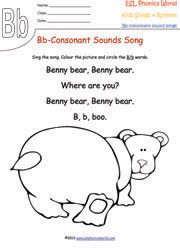 Consonant Sound Songs & Rhymes Kids Phonics Consonants for Nursery