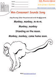 Consonant Sound Songs & Rhymes Kids Phonics Consonants for Nursery