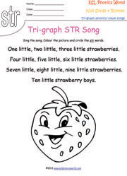 Tri-Graph Songs, Phonics Songs, Three Letter Blend Rhymes