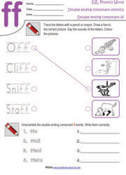 double ending consonants worksheets bing images. Black Bedroom Furniture Sets. Home Design Ideas