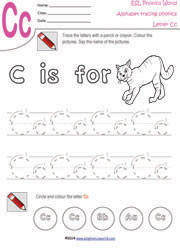 Alphabet Handwriting-Tracing Worksheets, Trace Letters A-Z,