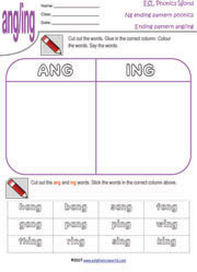 Word Endings: -Ng and -Nd | Worksheet | Education.com