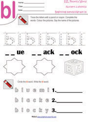 ... Beginning Consonant Blend Worksheets, Two-Letter Blend Phonics
