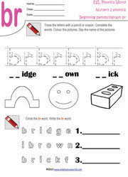 Printables Blend Worksheets printable beginning consonant blend worksheets two letter br worksheet