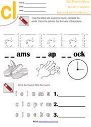 math worksheet : printable beginning consonant blend worksheets two letter blend  : Blending Worksheets For Kindergarten