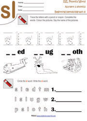 beginning consonant blend worksheets two letter blend phonics. Black Bedroom Furniture Sets. Home Design Ideas
