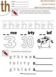 math worksheet : printable beginning consonant blend worksheets two letter blend  : Th Worksheets For Kindergarten