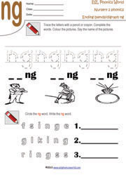 Words Ending in Ng | Phonics, Worksheets and Literacy