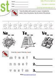 S Blends Worksheets Pack by Miss Giraffe | Teachers Pay Teachers