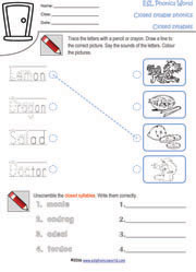 open-closed-syllable-worksheets