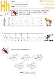 Preschool worksheets letters a z tracing kindergarten phonics letter h preschool worksheet ibookread ePUb