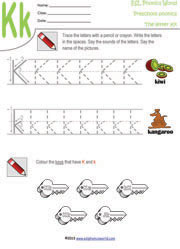 Preschool worksheets letters a z tracing kindergarten phonics letter k preschool worksheet ibookread Download
