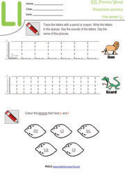 Letter Recognition &amp- Phonics Worksheet - L (Uppercase) | Super Simple