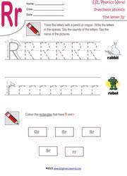 Letter R Preschool Worksheet