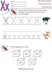 Letter X Preschool Worksheet