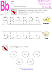 math worksheet : preschool worksheets letters a z tracing kindergarten phonics : Letter B Worksheets Kindergarten