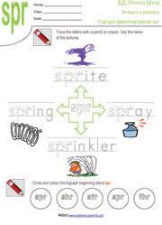 Printable Tri-Graph Worksheets   Three Letter Blend Phonics for Kids