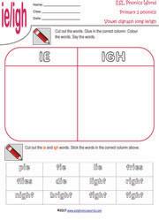 Primary School Level 2 Worksheets | Grade Two Vowel Digraphs