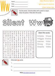 ESL Phonics World   Silent Letter Worksheets