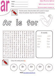ar-controlled-vowel-wordsearch. Wordsearch Worksheet - R-Controlled ...